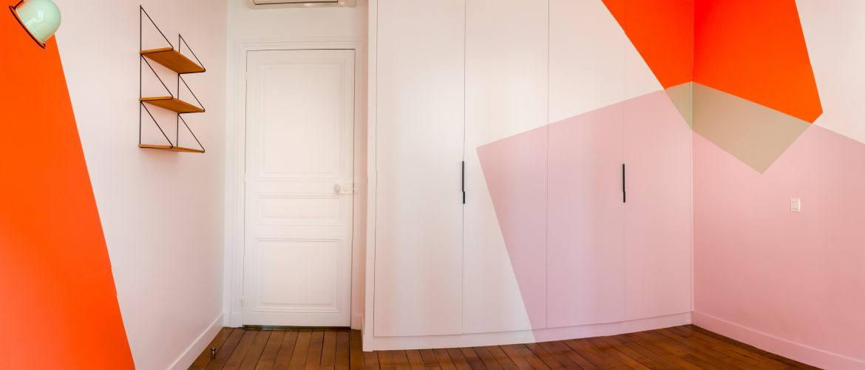 Peinture - formes géométriques , chambre enfant